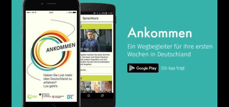"""""""Ankommen"""" – endlich Selbstlern-App für Deutsch und das Zurechtfinden in Deutschland für Smartphones"""